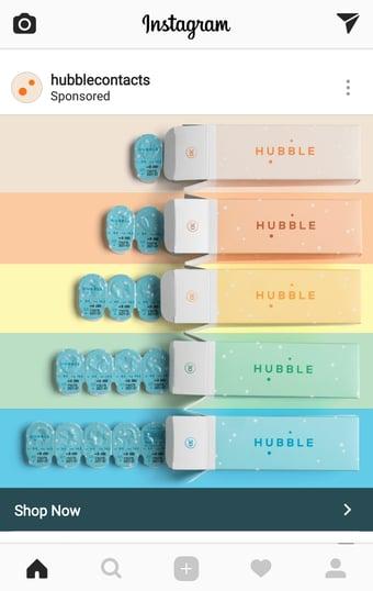 Hubble Contants Instagram Ad