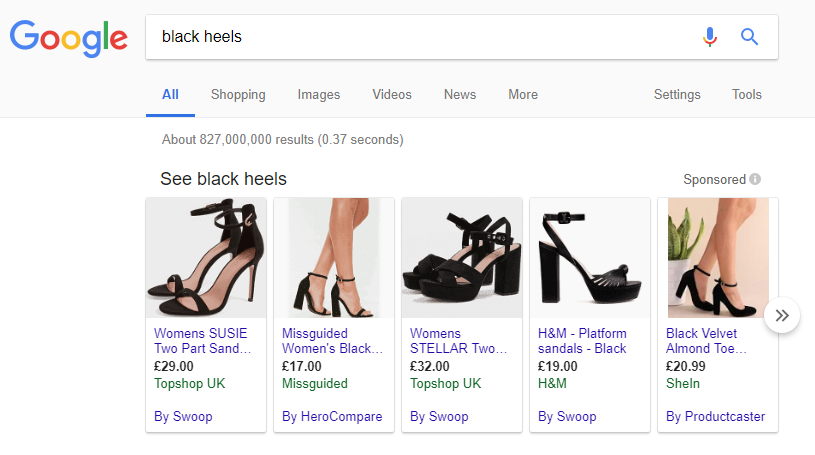 google shopping eCommerce Marketing Channels