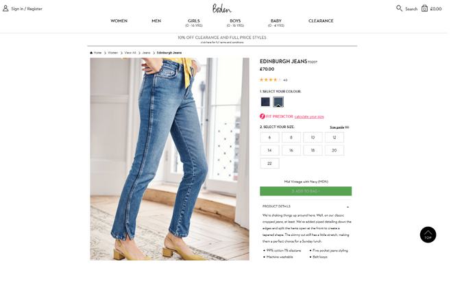 Boden Jeans eCommerce Marketing Channels