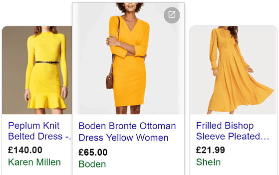 PLA yellow dress good title length