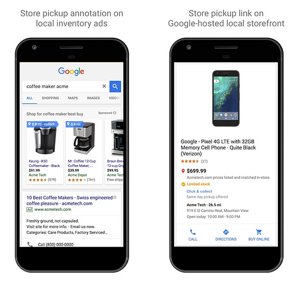 Local Inventory Ads Google, Click and Collect