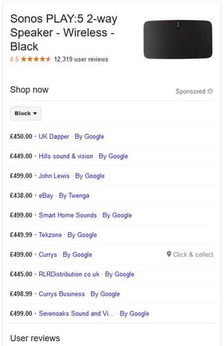Google Ad Sonos PLAY:5 Comparison